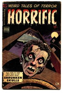 HORRIFIC #7 1953-COMIC MEDIA-DECAPITATION-DON HECK-PRE-CODE HORROR