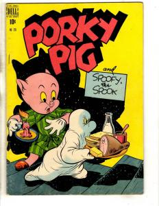 Four Color # 226 FN/VF Dell Golden Age Comic Book Porky Pig Spoofy Spook JL18