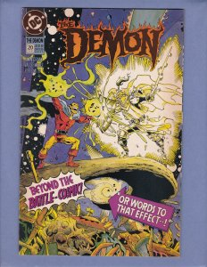 Demon #20 VF/NM Front/Back Cover Scans DC 1992