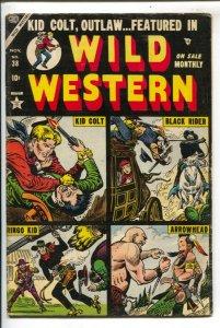 Wild Western #38 1954-Joe Maneely cover- Kid Colt- Black Rider- Ringo Kid-Arr...