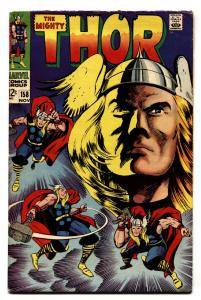 THOR #158-comic book-1968-NOVEMBER-ORIGIN VG+