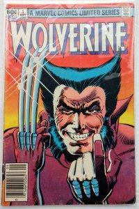 Wolverine Limited Series #1 NEWSSTAND (VG/FN)(1982)