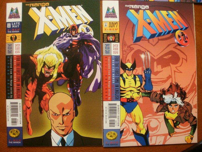 6 Near-Mint Marvel Comic: X-MEN: THE MANGA #2 3 4 5 6 7 (1998) Higuchi Masuda