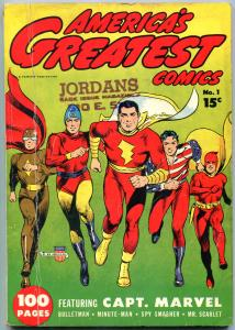 America's Greatest Comics #1 1941-Captain Marvel- Bulletman- Minuteman VG