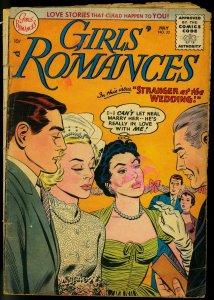 GIRLS' ROMANCES #33 1955-DC COMICS-BRIDE COVER-2ND CODE G