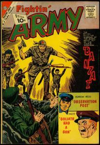 Fightin' Army #44 1961- Charlton comics- Banzai- Korean Reds VG
