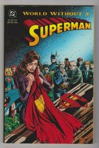 WORLD WITHOUT A SUPERMAN  TPB 1993 1ST PRINT DC COMICS