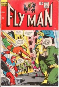 FLY MAN 31 VG BLACK HOOD, SHIELD,COMET APP. COMICS BOOK