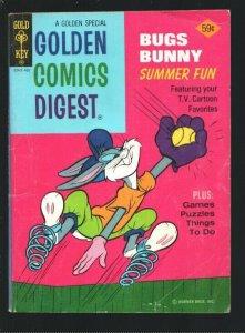 Golden Comics Digest #39 1974-Bugs Bunny Summer Fun-Baseball cover-Comics-puz...
