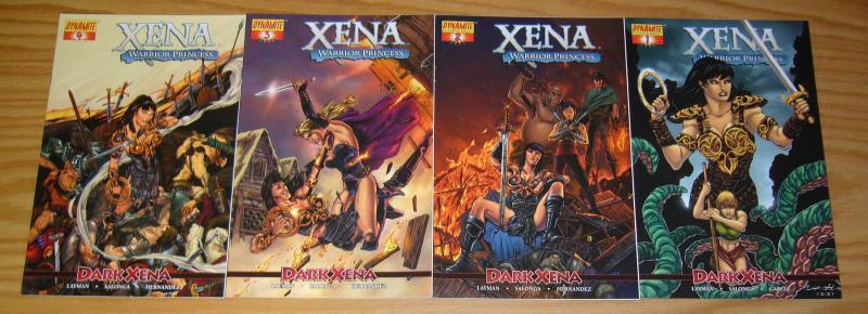 Xena Warrior Princess: Dark Xena #1-4 VF/NM complete series - lau variants set