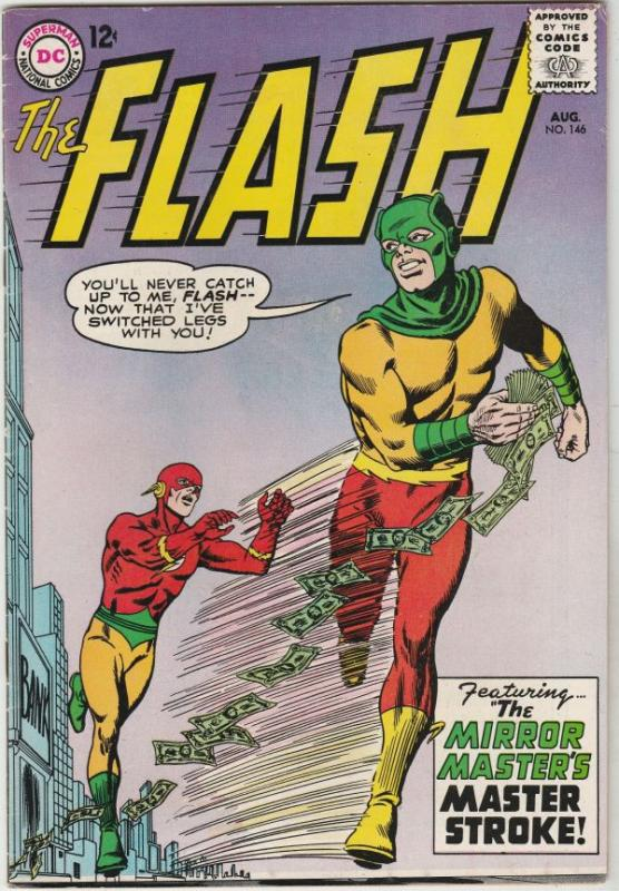 Flash, The #146 (Aug-64) VF+ High-Grade Flash