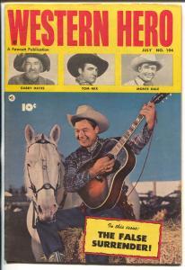 Western Hero #104 1951-Fawcett-Tom Mix-Gabby Hayes-Monte Hale-FN