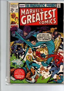 Marvel's Greatest Comics #28 - Fantastic Four - 1971 - Fine/Very Fine
