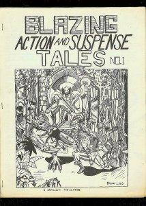 BLAZING ACTION AND SUSPENSE TALES-COMIC FANZINE-#1-1968 VG/FN