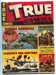 True Comics #36 1944- IRA Baker- Garibaldi VG