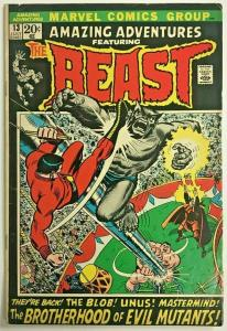 AMAZING ADVENTURES#13 VG/FN 1972 THE BEAST SOLO MARVEL BRONZE AGE COMICS