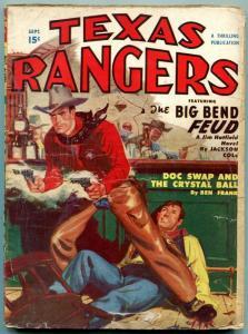 Texas Rangers Pulp September 1950- Jim Hattfield- Western G/VG