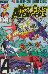 West Coast Avengers (Ltd. Series) #4 VF/NM; Marvel | save on shipping - details