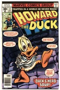 HOWARD THE DUCK #12 1977-MARVEL-FIRST KISS IN COMICS-GOTG