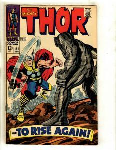 Thor # 151 VF- Marvel Comic Book Loki Odin Sif Avengers Hulk Iron Man GK4