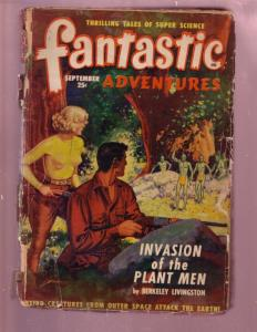 FANTASTIC ADVENTURES-SEPT 1949-ALIEN INVASION PULP FUN FR