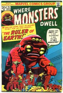 Where Monsters Dwell #25 1971- Ditko & Kirby art- Horror VG-