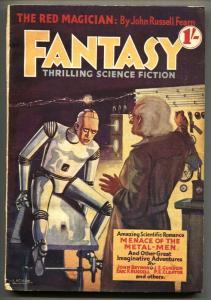 Fantasy #1 1938 RARE British Pulp-First issue