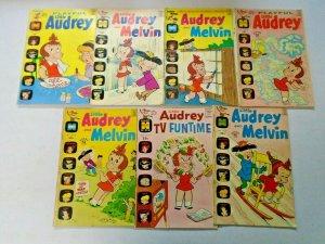 Bronze Age Harvey Little Audrey Comic Lot 7 Different Average 5.0