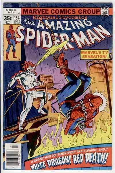 SPIDER-MAN #184, FN, Dragon, Wolfman, Amazing, 1963, more ASM in store