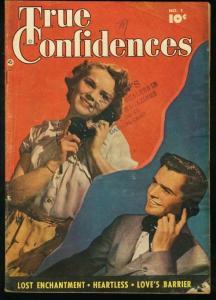 TRUE CONFIDENCES #1-FAWCETT COMICS-PHOTO COVER-1949 VG
