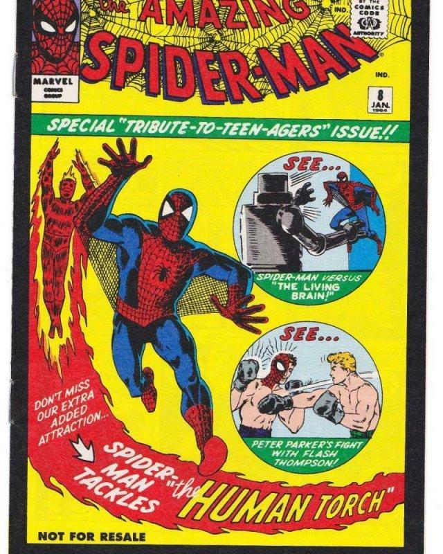 AMAZING SPIDER-MAN #8, VF+, Reprint, Human Torch, 2006, Peter Parker, Marvel, 18
