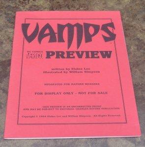 Vamps Preview NM/NM+ White Pages High Grade DC Vertigo Mature Horror 1994