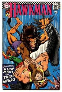 HAWKMAN #20 1967-1st appearance of LION-MANE-DC comic book