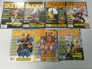 Sketch Magazine comic art lot 13 different from #19-38 (2003-09 Blue Line)