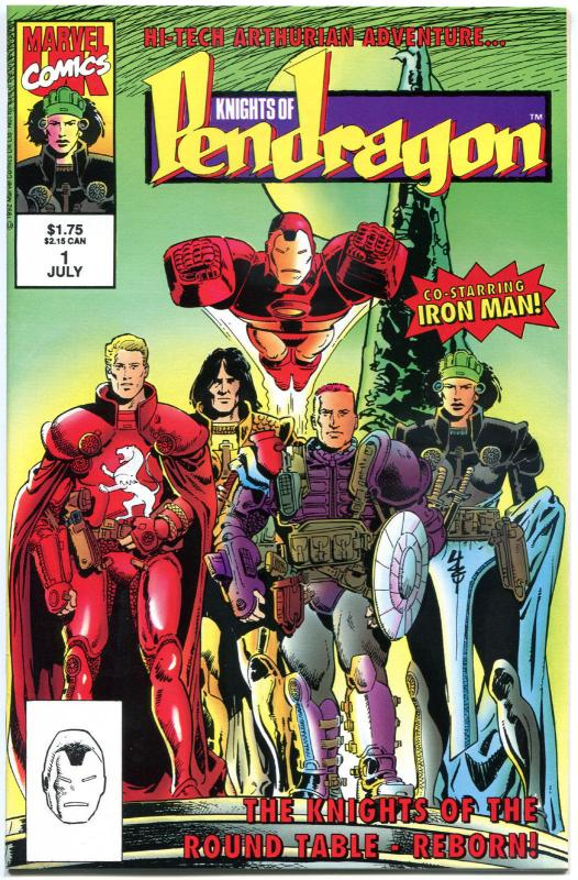 KNIGHTS of PENDRAGON #1 2 3 4 5 6, NM-, 1992,  6 issues, Iron Man, King Arthur