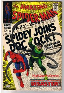 Amazing SPIDER-MAN #56, VF+, Doc Ock, 1st Capt Stacy, 1963, more ASM in store