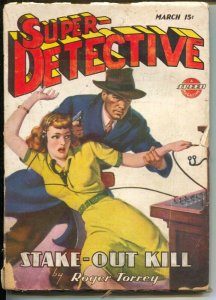 Super-Detective 3/1946-switchboard operator cover-hardboiled pulp fiction-Roger