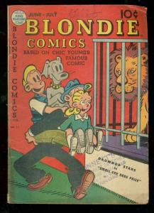 BLONDIE COMICS #12 1949-CHIC YOUNG-DAGWOOD-COOKIE-DAISY-very good VG