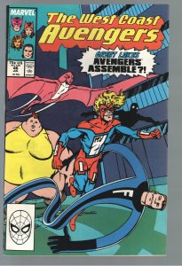 WEST COAST AVENGERS 46 NM 9.2;(1989) 1st APP.of the GREAT LAKES AVEN