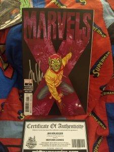 Marvel's X #1 NM Alex Ross Cover Signed by Jim Krueger