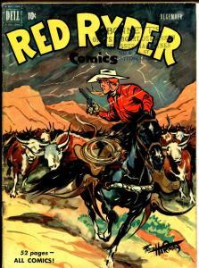 Red Ryder #80 1950-Dell-Little Beaver-Fred Harmon art-VG