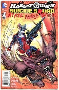 HARLEY QUINN and the SUICIDE SQUAD April Fools' Special #1, NM, Jim Lee, Man-Bat