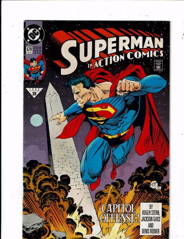 11 Action Comics DC # 679 680 686 687 (2) 688 689 690 691 692 693 Superman JR2