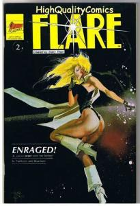 FLARE #2, VF/NM, Mark Beachum, Good Girl,  Indy, 1990, more indies in store