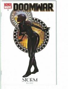 Doomwar #1 VF/NM women of marvel variant cover - Storm - Black Panther - X-Men