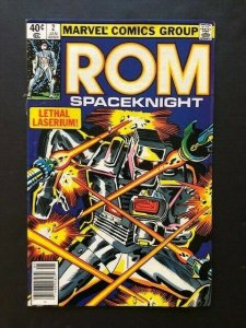 MARVEL  ROM Spaceknight #2 Lethal Laserium! FINE/VERY FINE (A17)