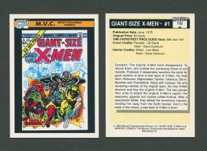 1990 Marvel Comics Card  #132 (Giant Size X-Men #1 Cover) / NM-MT+
