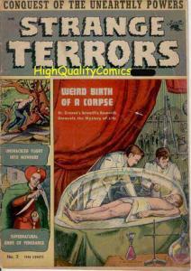 STRANGE TERRORS #2, Pre-code Horror, Skulls, 1952, Death, HTF
