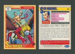 1991 Marvel Comics II  Card  #6 ( Sub-Mariner )  MINT