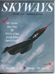 Skyways 12/1949-Henry-fighting planes of the RAF-over 50 pictures-aviation ad...